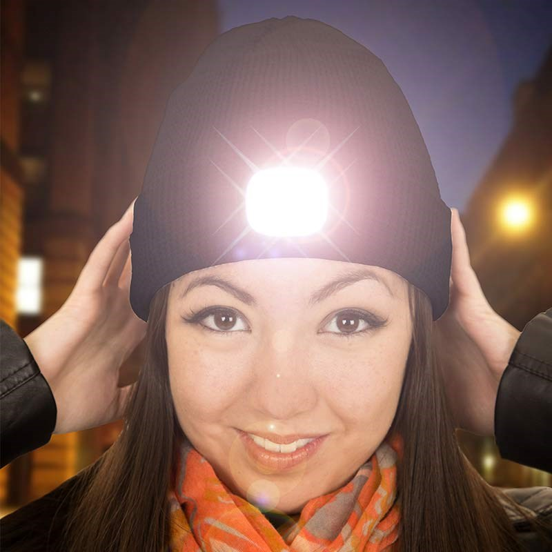 Dog Walking Beanie With Light