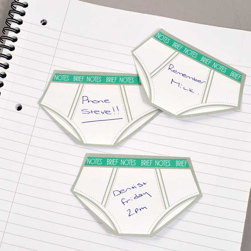 Brief Notes | Underwear Shaped Sticky Notes! | The Present ...