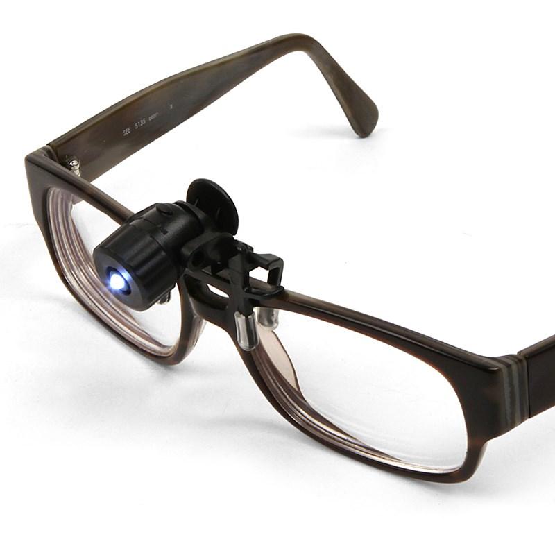 Mini Clip On Led Spotlight For Glasses Spectacles The