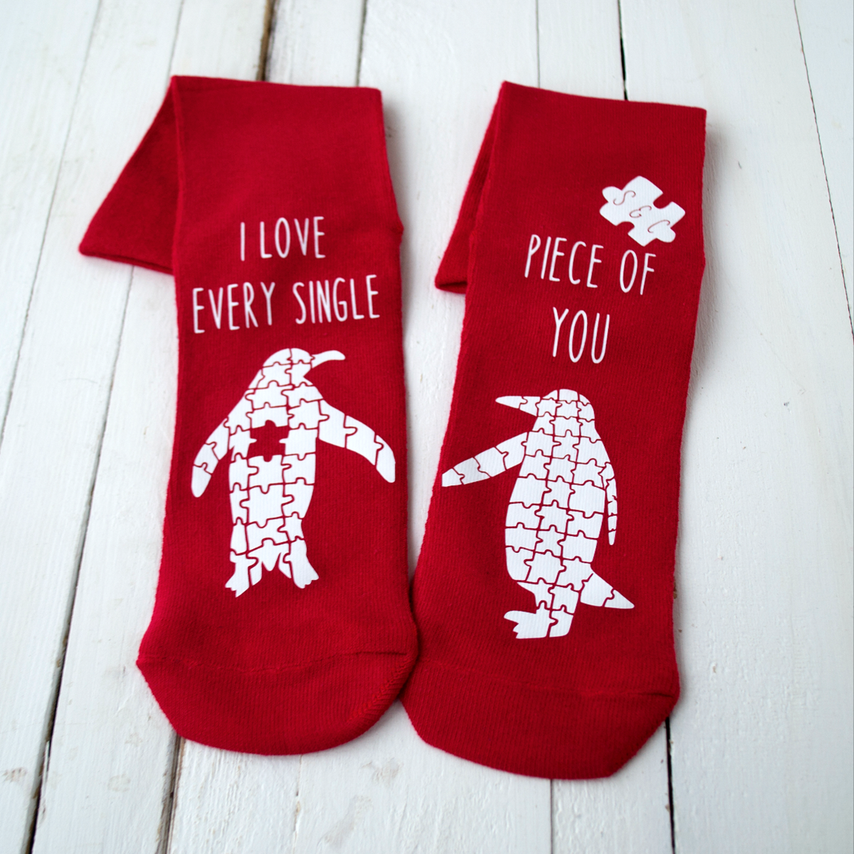 Birthday gift ideas unusual presents the present finder personalised love you to pieces socks negle Choice Image
